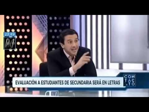 León Trahtemberg confronta la modalidad de evaluación por competencias. Canal N 01 02 2019