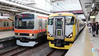 快速「むさしの」と中央線列車たち