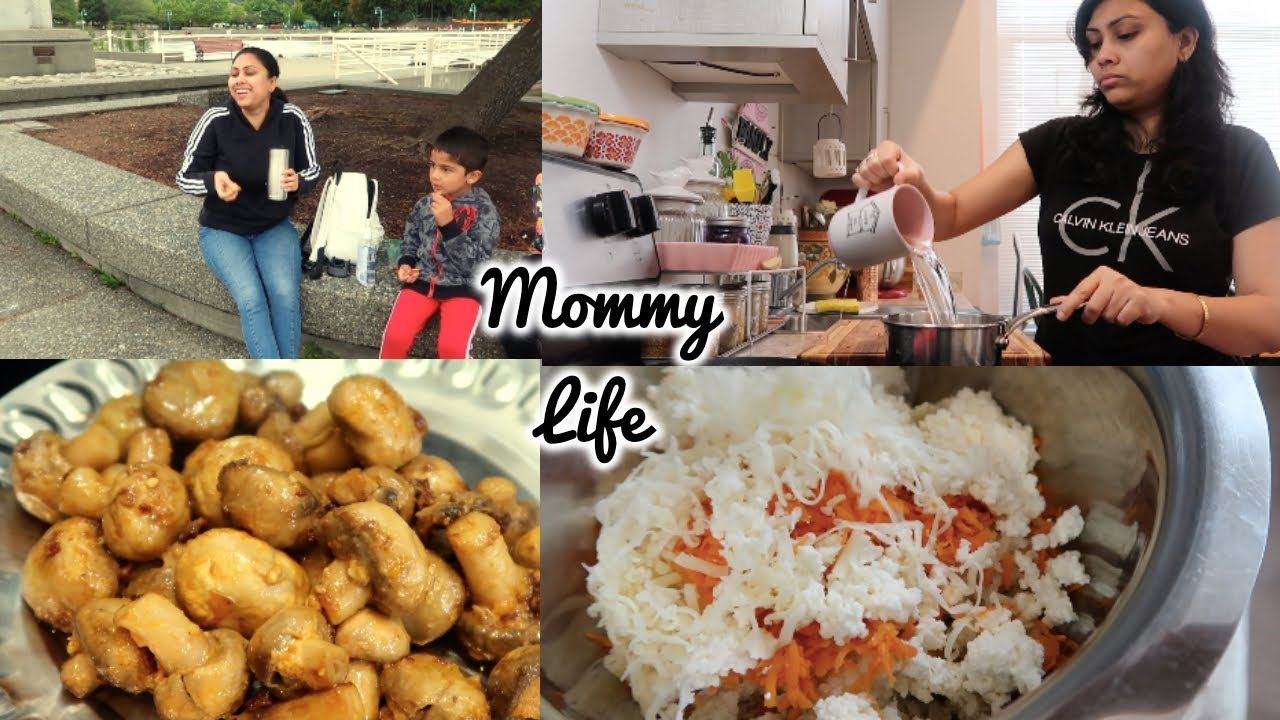 Morning to Night Mommy Life - Mushroom ki mazedar recipe - Indian Family in Canada