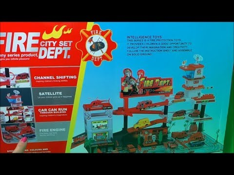 LARGEST VANCOUVER CITY FIRE STATION CITY SET UNBOXING Inc.,  FIRE ENGINE, HELICOPTER, AND  SUV