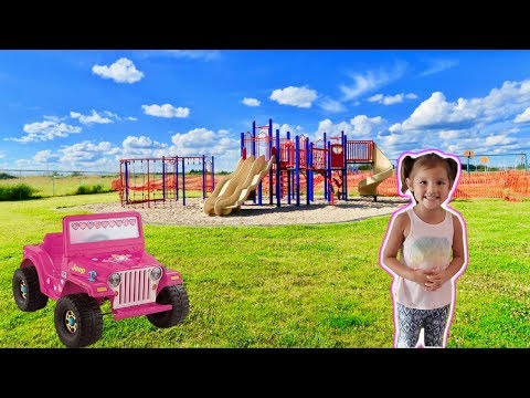 Thumbnail: Playing in HUGE Playground for Kids W Pink Jeep and Singing Moana! Fun Playtime for Kids & Babies