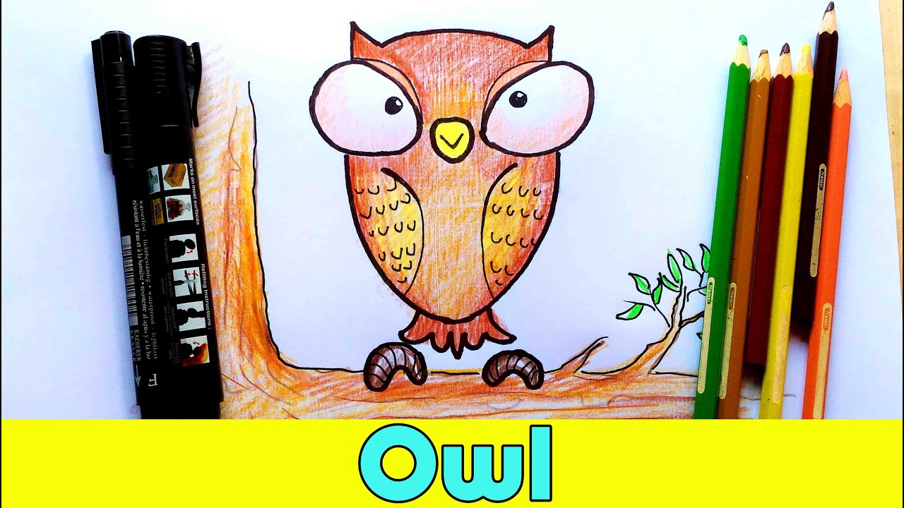How to draw owl step by step cartoon drawing tutorial for kids how to draw owl step by step cartoon drawing tutorial for kids youtube sciox Gallery