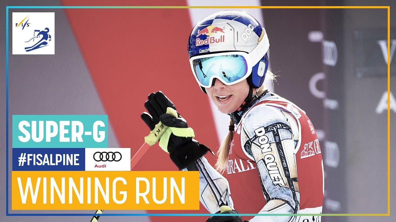Ester Ledecka Wins First Super-G in Val d'Isère