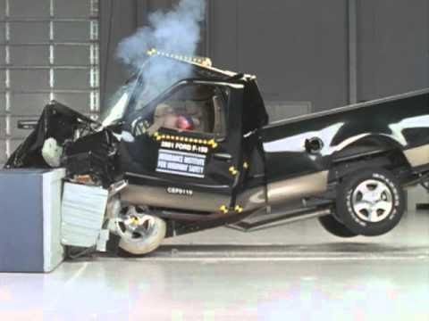 Silverado Vs F150 >> 2001 Ford F-150 moderate overlap IIHS crash test - YouTube