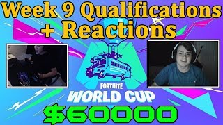 Fortnite World Cup *EMOTIONAL* Reactions to Qualification *WINNING* $50000 *WEEK 9*
