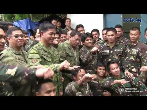 President Duterte visits war-torn Marawi