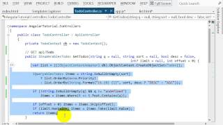 AngularJS end-to-end web app tutorial Part II