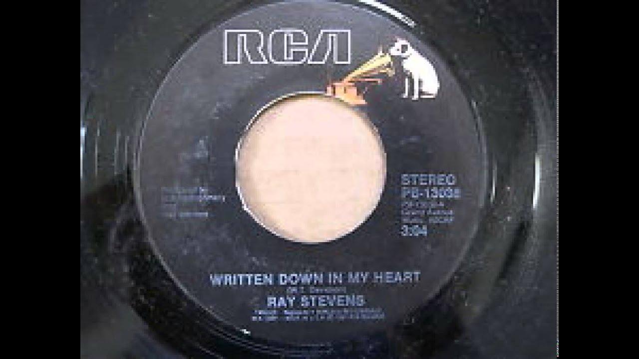 Ray Stevens Written Down In My Heart Youtube