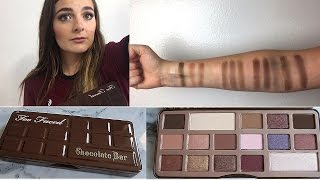 Too Faced Chocolate Bar Swatches + Review