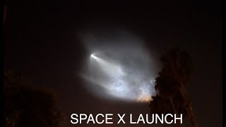 SPACE X LAUNCH HD | October 7th 2018 | Way better then Fireworks | that was CRAZY!!!!