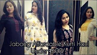 Jabong Affordable Kurti Haul Under ₹600/-/Summer Kurti Haul/Swati Rastogi