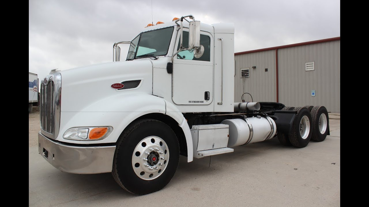 2010 peterbilt 384 daycab tandem tractor truck ism 410 cummins engine [ 1280 x 720 Pixel ]