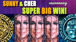 SUNNY & CHER - *SUPER BIG WIN* - Slot Machine Bonus (Casinomannj)