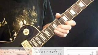 Opeth Windowpane - Guitar lesson - Part One