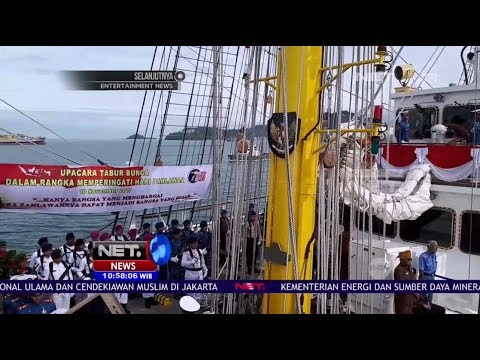 Kemegahan Kapal Bima Suci yang Baru Tiba di Perairan Jakarta - NET10