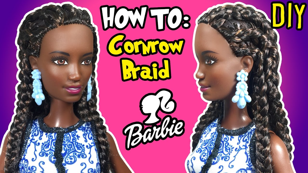 K Style Hair Chalk: How To Cornrow Braid With Barbie Doll