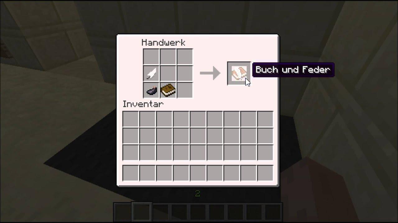 Minecraft Buch Und Feder Craften Youtube