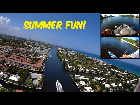 CX-20 Quadcopter Drone / Jet Ski & Slalom Waterskiing