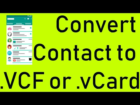 How To Convert Contact To VCF Or VCards In Windows 10