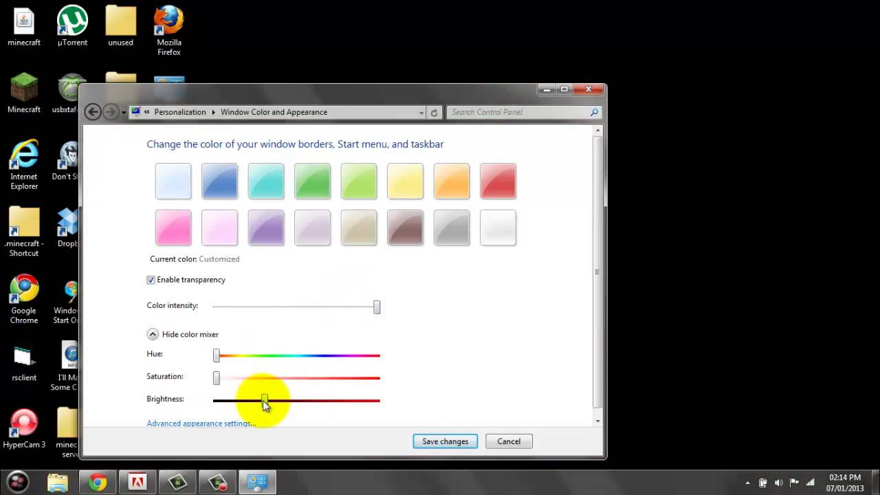 How to make a Black Taskbar in Windows 7 - YouTube
