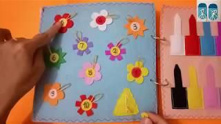 Quiet book for kid - Skill practice book 15/felt book