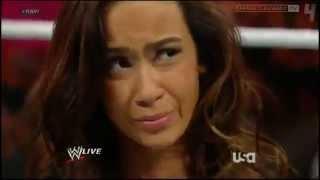WWE Raw 7/9/12 - AJ Slaps CM Punk & Daniel Bryan