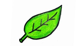 How to draw a simple and sober leaf || easy and simple || for kids || Crafty people