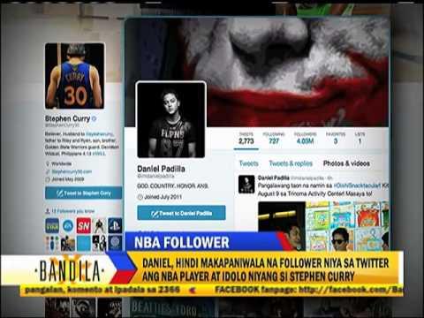 Stephen Curry followed Daniel Padilla on Twitter.