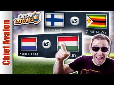 MGL WORLDS: FINLAND vs ZIMBABWE & NETHERLANDS vs HUNGARY | Clash Royale League