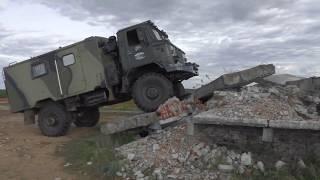 А ВАМ СЛАБО???ГАЗ 66 вверх по бетонной лестнице на заброшенном военном полигоне( GAZ 66)ШИШИГА