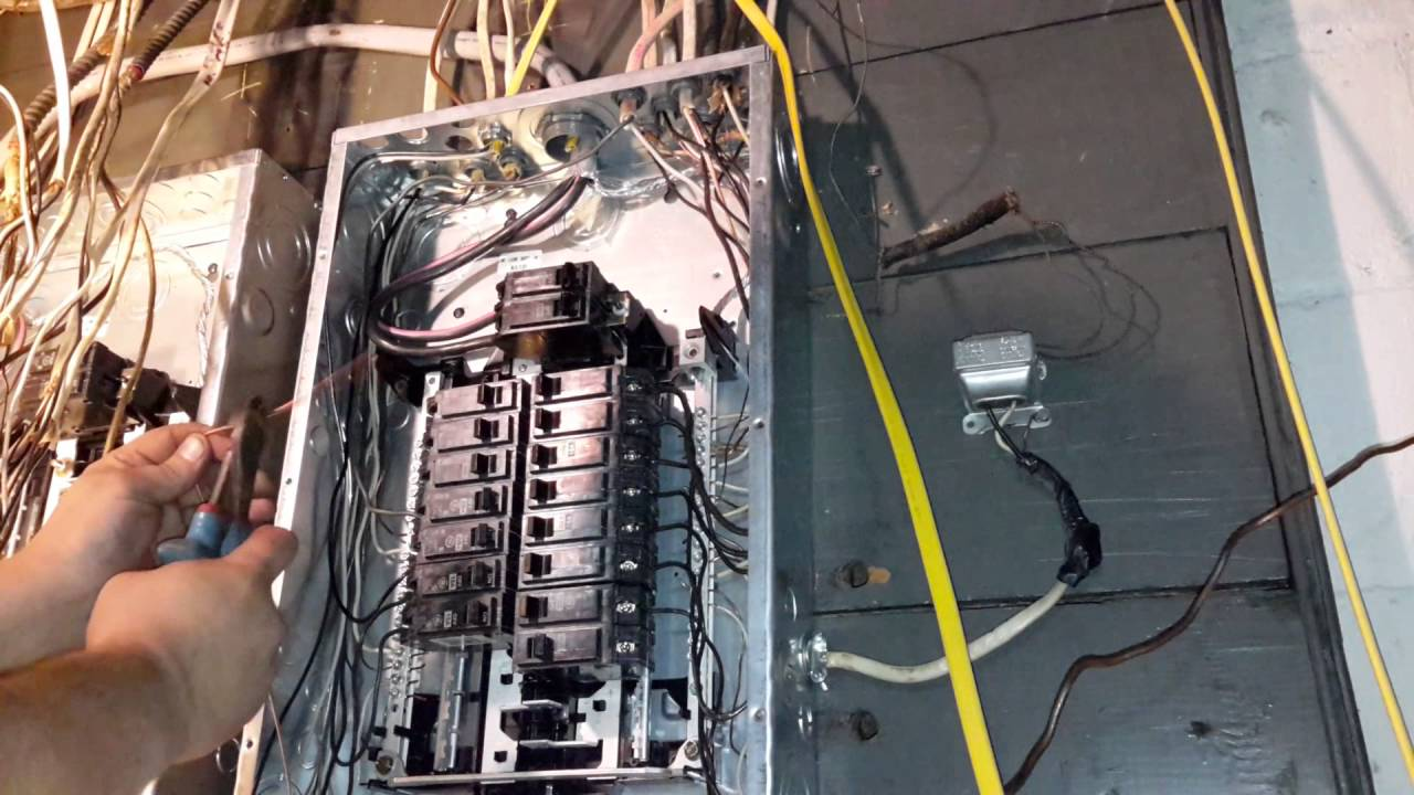 Diy adding a new wire and breaker to breaker box youtube for Best electrical panel for house