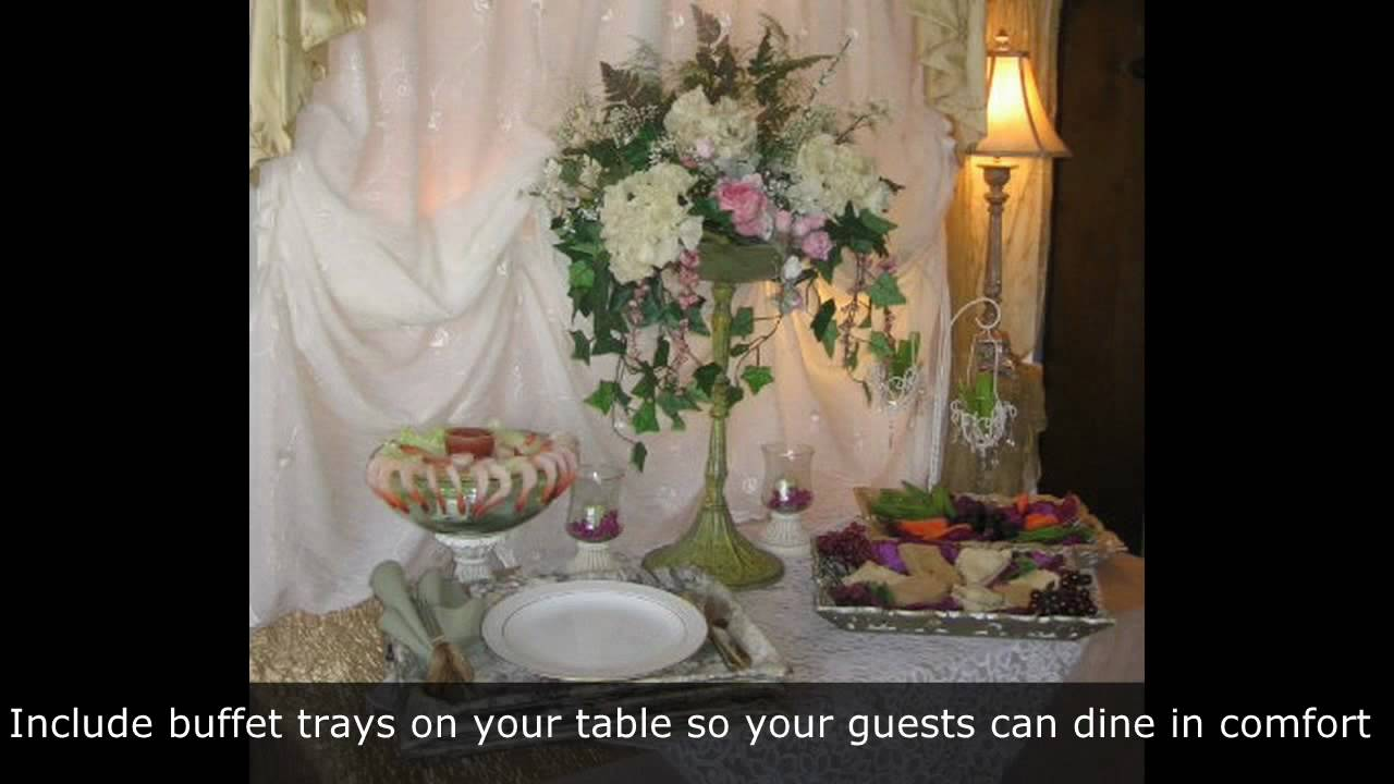 Ideas For Setting A Beautiful Buffet Table Youtube