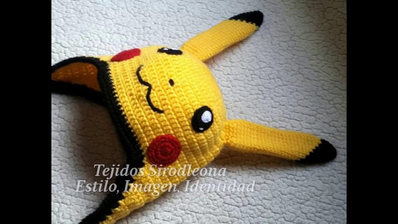 Gorro Pikachu tejido a crochet - YouTube
