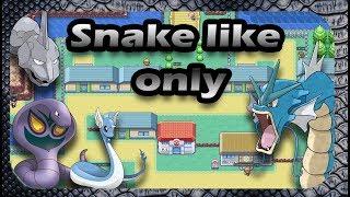 Can You Beat Pokémon Fire Red With Only Snake Like Pokémon ?? (No Items)