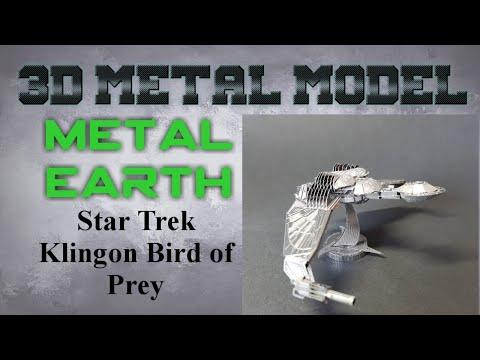 Metal Earth Build - Star Trek Klingon Bird of Prey