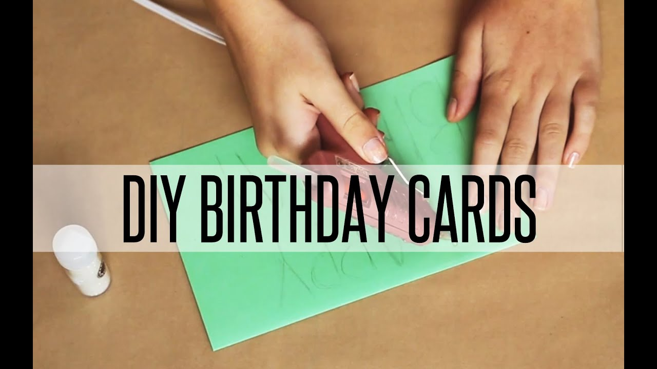 DIY BIRTHDAY CARDS | BIRTHDAY MAIL - YouTube: www.youtube.com/watch?v=6WeW5MIB98c