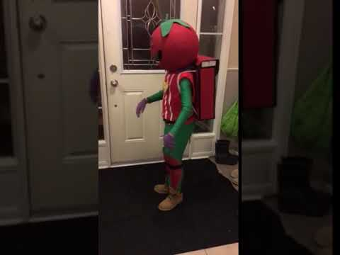 DIY Fortnite Tomato Head Costume
