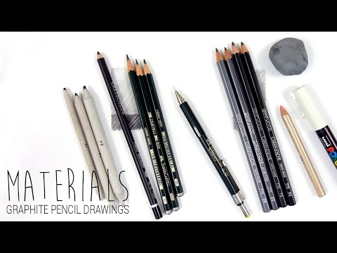Drawing Materials/Art Supplies I use for my graphite pencil drawings | Emmy Kalia