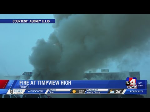 Fire breaks out at Timpview High School wood shop