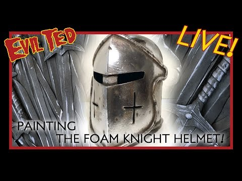 evil-ted-live:-painting-the-foam-knight-helmet