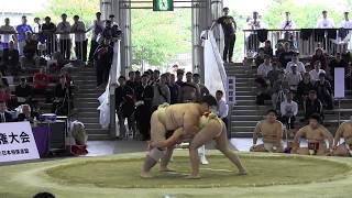 平成23年第89回学生相撲選手権大会 団体準決勝大将戦.