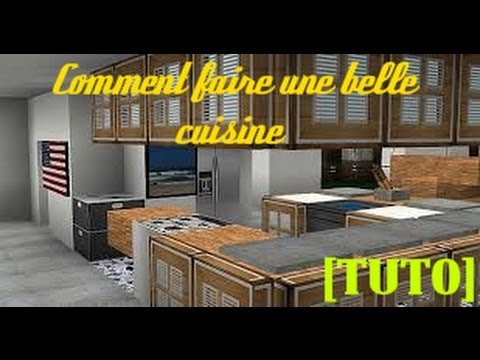 tuto minecraft comment faire une belle cuisine youtube. Black Bedroom Furniture Sets. Home Design Ideas