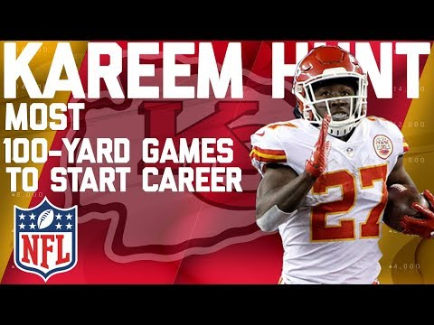 Kareem Hunt's Record-Setting Highlights for 100-Yard Games to Start Career | NFL