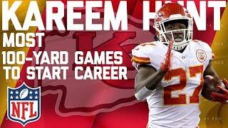 Kareem Hunt's Record-Setting Highlights for 100-Yard Games to Start Career   NFL thumbnail
