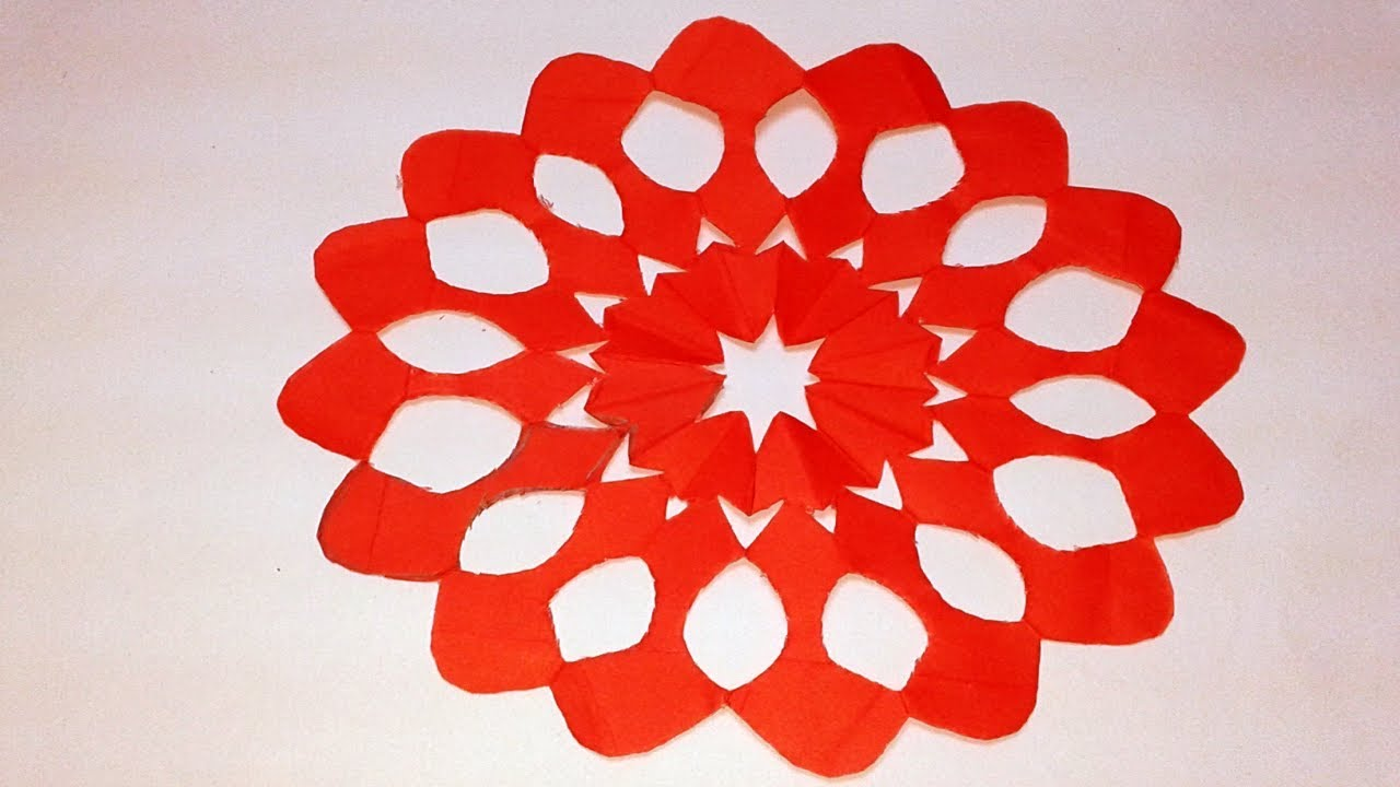 Paper Cutting How To Make Paper Cutting Flower Design Origami Paper