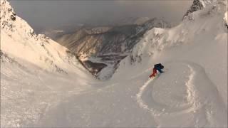 雪崩で流される 大山バックカントリー 別山沢 thumbnail