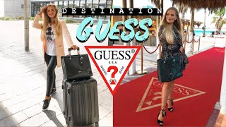 GOING ON A TRIP WITH GUESS ?🔻travel diary + fashion show