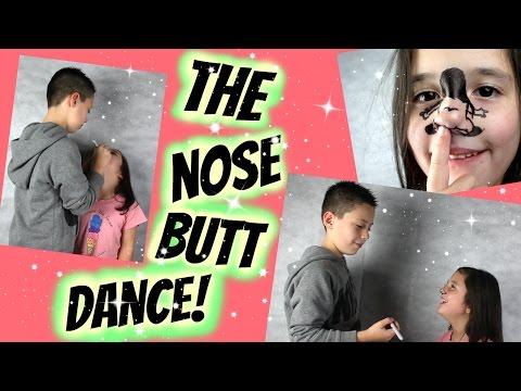 Caiden draws on halles face with a sharpie Hawaiian girl nose bum butt dance kids fun fail
