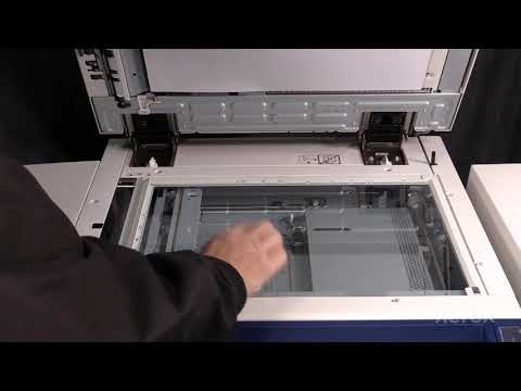 Xerox® Color 550 560 570® Cleaning the Platen Glass