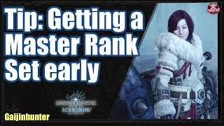 Iceborne | Tip: Getting a Master Rank set early